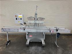 291662 - 12 Valve KAPS ALL Inline Volumetric Piston Filler with Stainless Conveyor - Model VOL-32