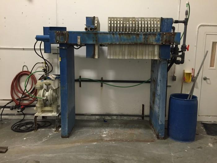 Image MET-CHEM Plate and Frame Filter Press 908637