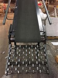 295558 - 20-22 ft OLSON Conveyor System with about 80ft of Skate Rollers