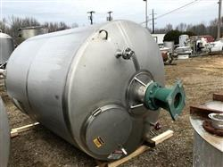 295581 - 1700 Gallon WALKER Mix Tank - Sanitary Stainless Steel