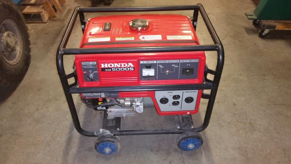 honda em5000s generator 298884 for sale used n a. Black Bedroom Furniture Sets. Home Design Ideas