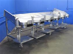 299606 - 6 Station Stainless Steel Portable Pack Out Table
