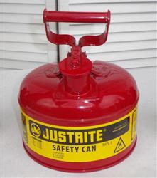 299632 - Lot of 3 Justrite Mfr. 1-Gallon Flammable Liquid Can