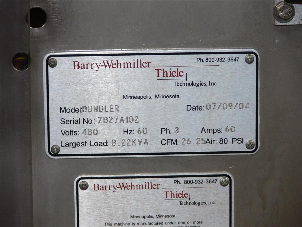 Image BARRY-WEHMILLER THIELE Shrink Bundler 937823