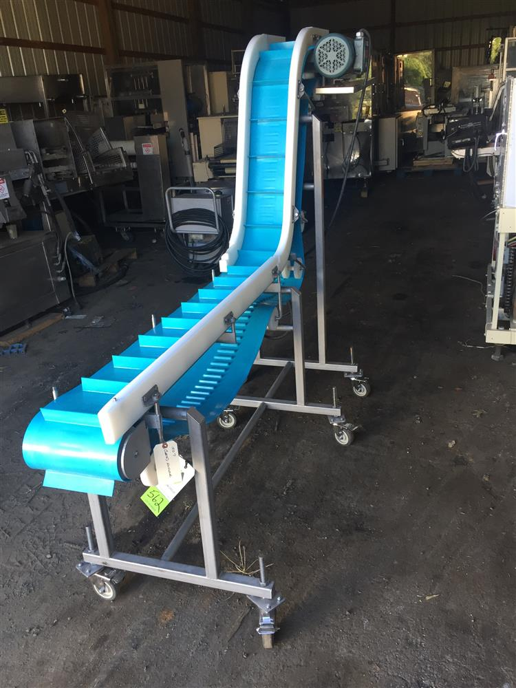 Cleated Incline Conveyor 300204 For Sale Used