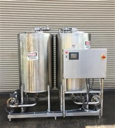 301697 - CARLSON Skid Mounted 2 Tank CIP System - Stainless Steel