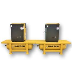 302881 - 10 HP KAESER SFC8 Air Compressor System - Dryer and Two Compressors