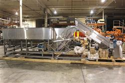 305599 - NORWALT Stainless Steel Incline Conveyor with 270 Cu. Ft. Hopper Dual Bottle Conveyor