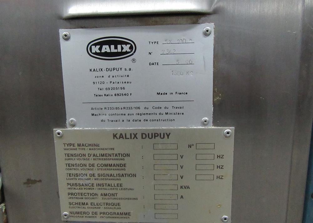 Image KALIX KX100B Metal Tube Filler - Incomplete  970554