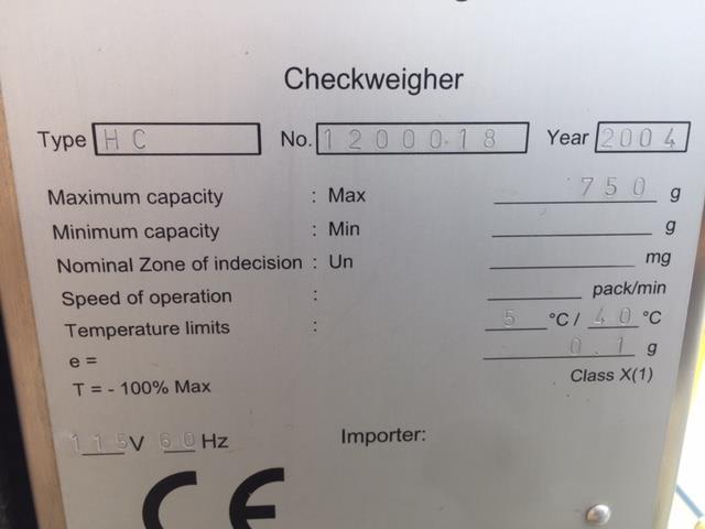 Image OCS HC2000 Inline Checkweigher 973508