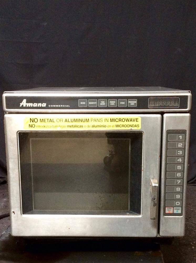 AMANA RC17 Commercial Microwave Oven - 2700 Watt Max, Heavy Duty Stainless Steel
