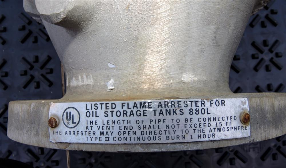 Image EMERSON Series 5400A Flame Arrester - Size 4in 975705