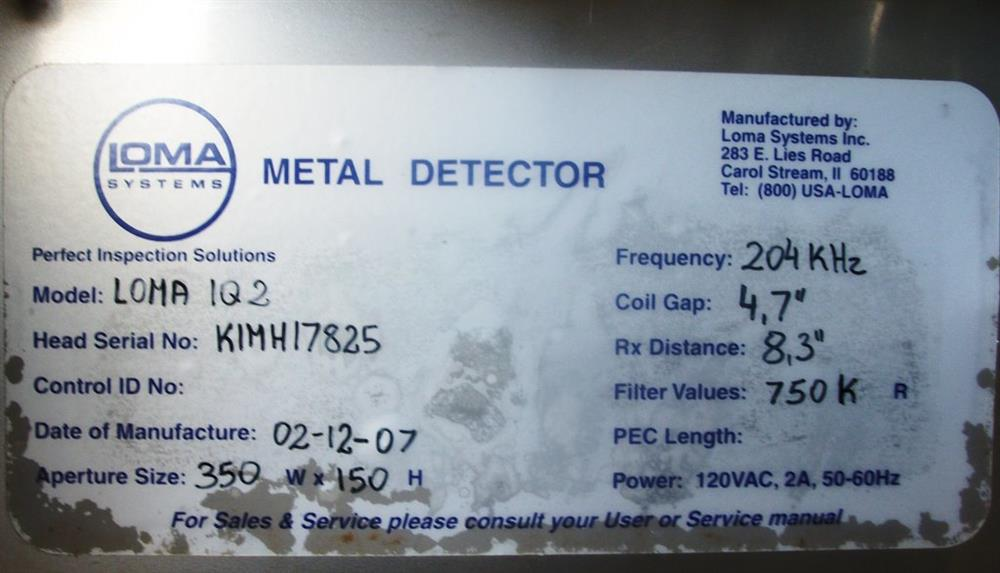 LOMA IQ2 Metal Detector - 311563 For Sale Used N/A