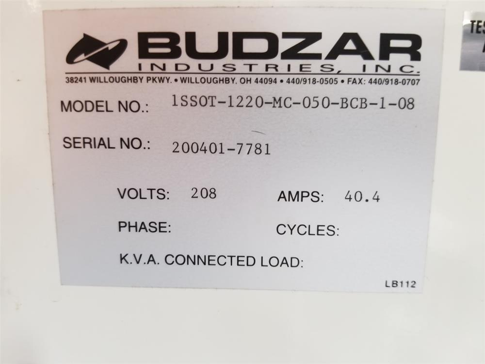 Image BUDZAR IND. 1SSOT Silver Series Hot Oil Unit - 12kW 1455112