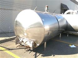 314459 - 1250 Gallon Horizontal Milk Tank - Stainless Steel