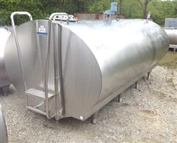 315554 - 2000 Gallon MUELLER Mix Tank - Horizontal, Jacketed, Sanitary