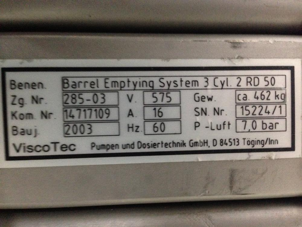 Image VISCOTEC 2RD50 Barrel Emptying System 1010028