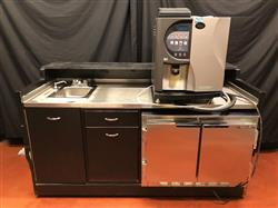320619 - 72in Coffee - Beverage Kiosk with Concordia Espresso Machine Cooler and Water