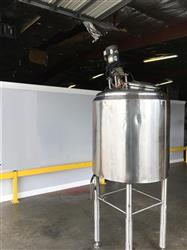 322315 - 200 Gallon Steel Jacketed Tank with Top Mixer