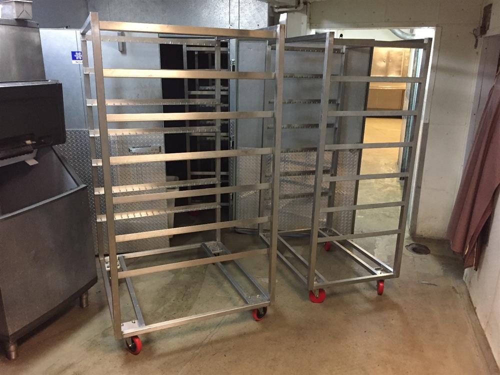 Image Rolling Smokehouse Racks-Trucks - Lot of 18 1041061
