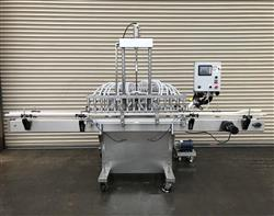 323469 - 16 Valve Inline Filling Pressure Gravity Inline Bottle Filler - Stainless Steel