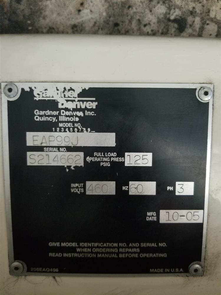 100 HP GARDNER DENVER R - 323581 For Sale Used N/A