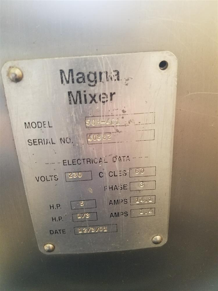 Image MAGNA High Speed Single Arm Mixer - Model 50H-4C1, Approximate 10 Gallon, 50 Pound Working Capacity 1048804