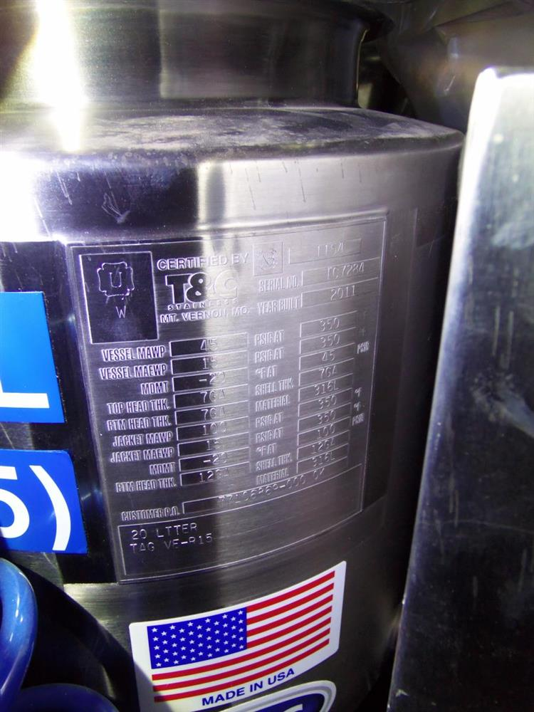 Image T & C Reactor - 20 Liter, Stainless Steel 1056782