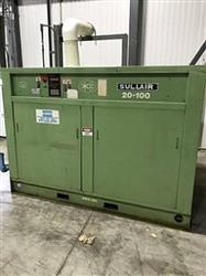 325589 - 100 HP SULLAIR Rotary Screw Air Compressor with ARROW 240 Regenerative Dryer - 490 ACFM, 110 PSI