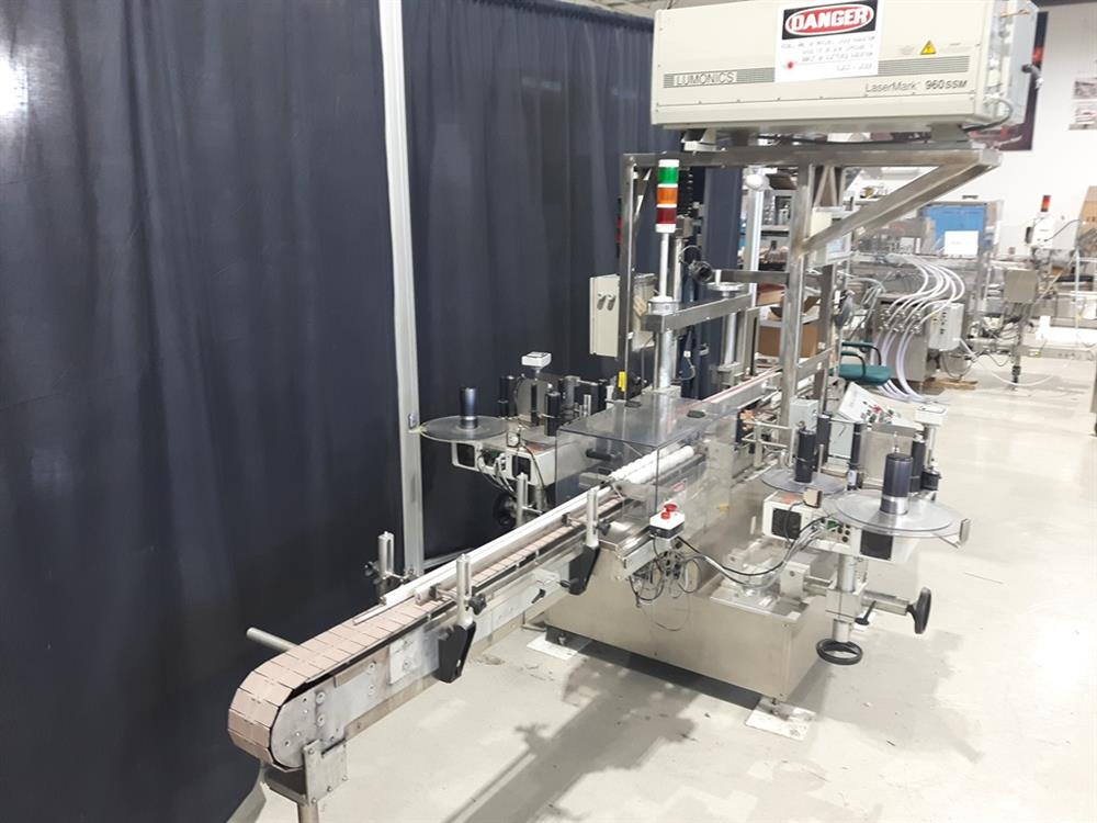 Image AVERY High Speed Front and Back Labeler with ALS 350 Labeling Heads and Lumonics Laser Coder 1074765