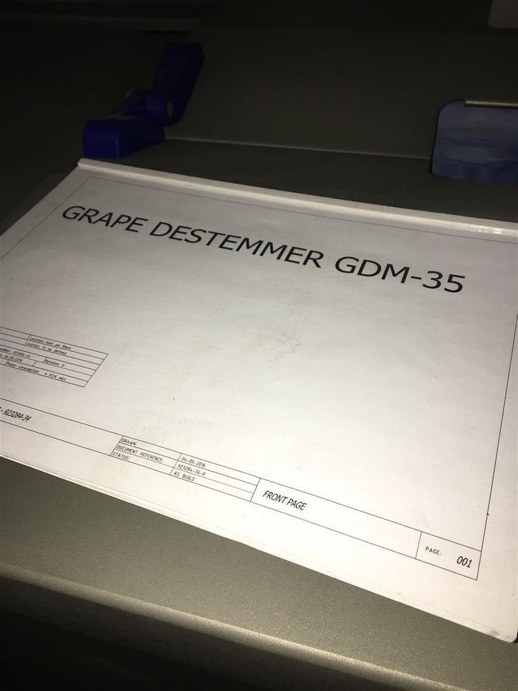 Image ZTI ZGDM-35 Grape Destemmer Plus Bonus Washer Table 1075373