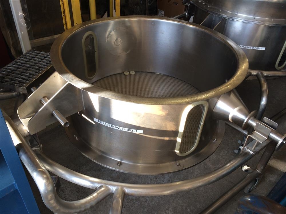 FITZAIR FA-150 Fluid Bed Dryer Bowl - Set of 2