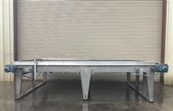 331713 - 8 ft x 14 ft TAYLOR Long Stainless Bi-Directional Accumulation Table