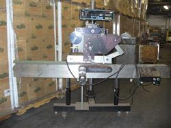 332554 - WILLET LABELJET 2300-R Labeler with 97in Belt Conveyor and 3.25in Plastic TT Chain