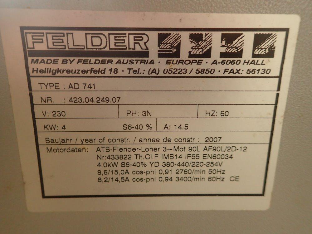 FELDER AD 741 Planer 332656