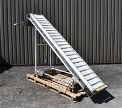 333323 - Mobile Incline Conveyor - 18in W X 120in L, Stainless Steel