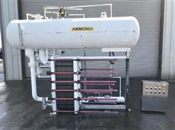 336419 - ALFA LAVAL MK15-BWFD Pre-Chiller Plate Heat Exchanger with Ammonia Receiver Tank