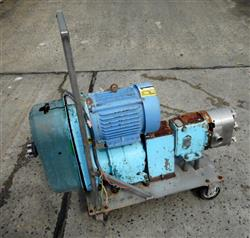339081 - WAUKESHA 30 Lobe Type Pump - Jacketed 316 Stainless Steel