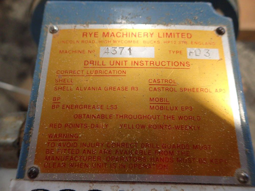 RYE MACHINERY LTD PD3 H - 340442 For Sale Used N/A