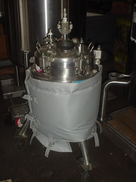 39.6 Gallon DCI Hastelloy C Jacketed Filter Reactor