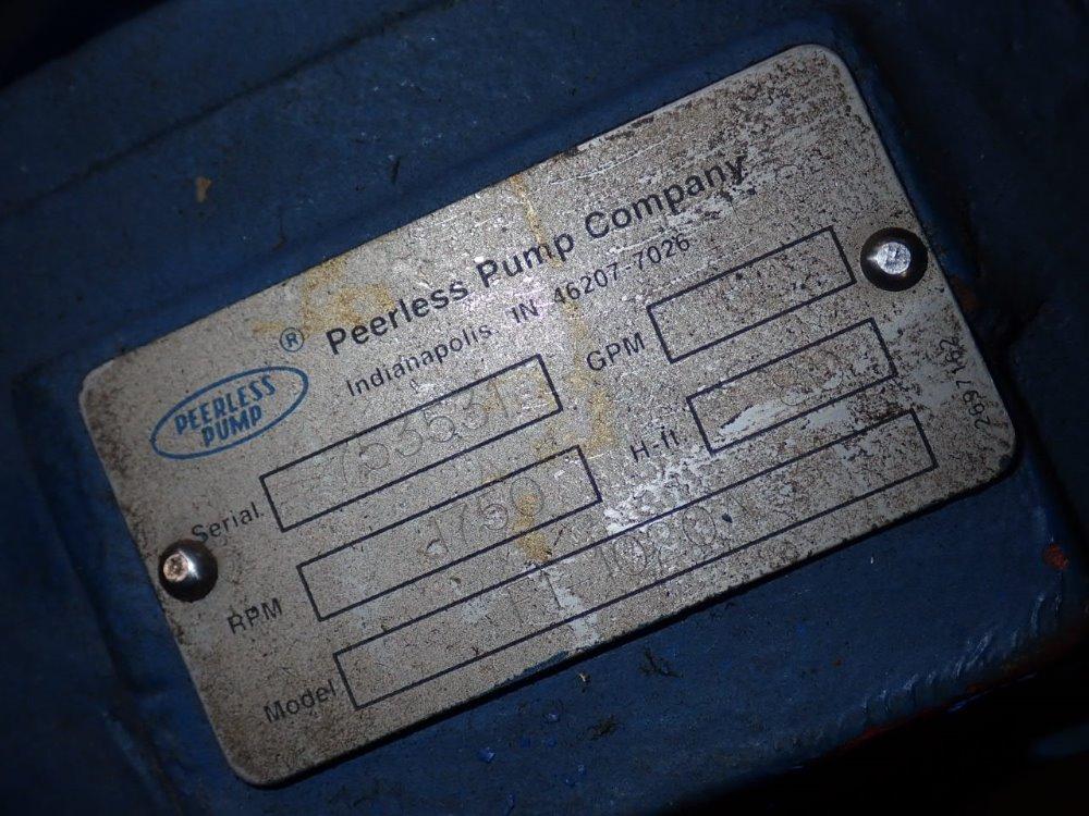 PEERLESS PUMP F1-1020 P - 348272 For Sale Used N/A