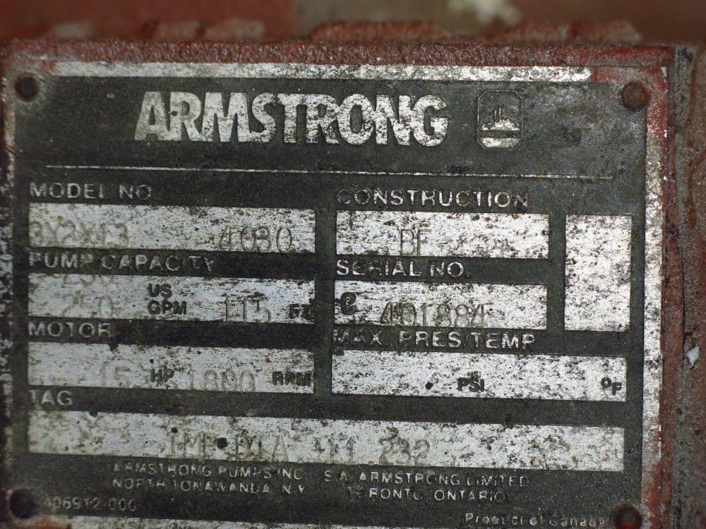 ARMSTRONG 3X2X13 4030 P - 350335 For Sale Used N/A