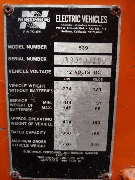 NORDSKOG 539 Chariot