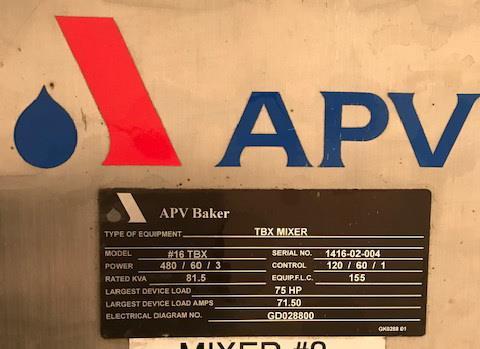 Image 57 Cu. Ft. APV Roller Bar Dough Mixer 1340262