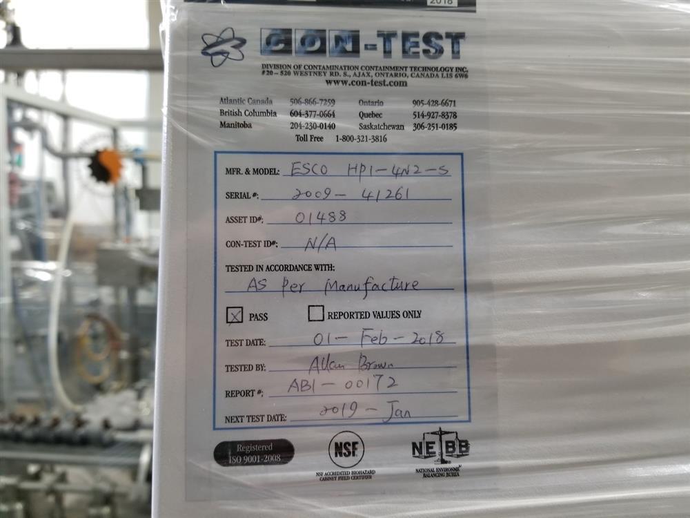 Image ESCO HP1-4N2-S Isoclean Glove Box 1345370