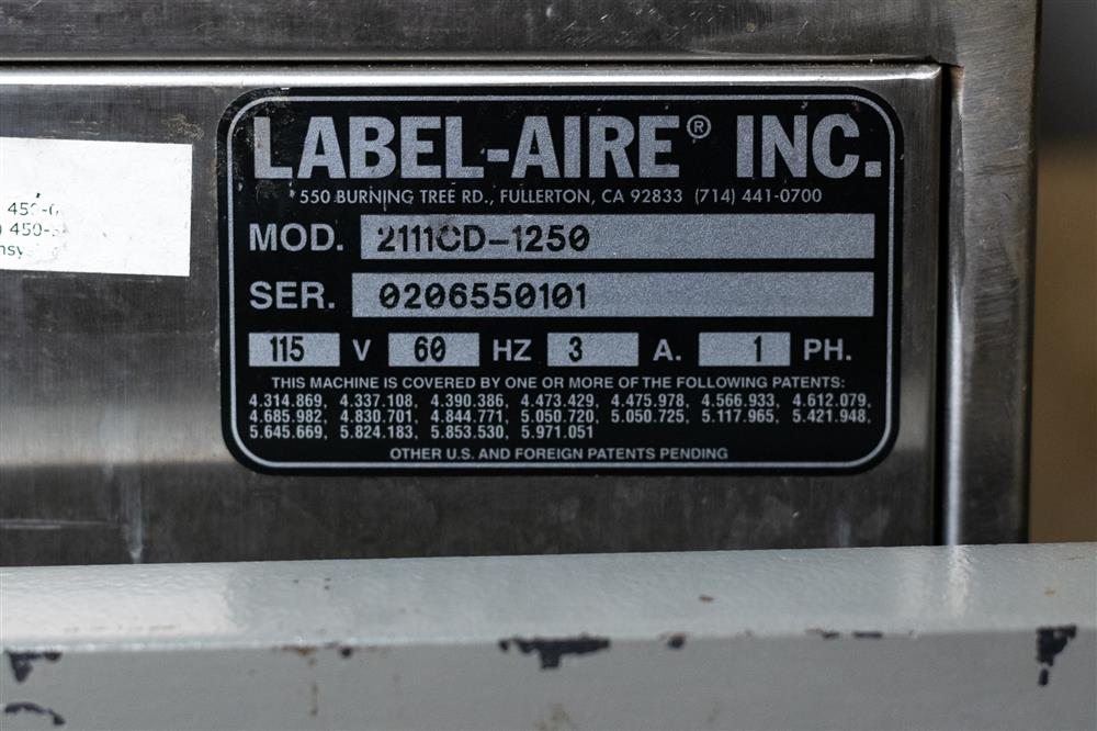 Image LABEL-AIRE 2111CD-1250 Labeler 1363278