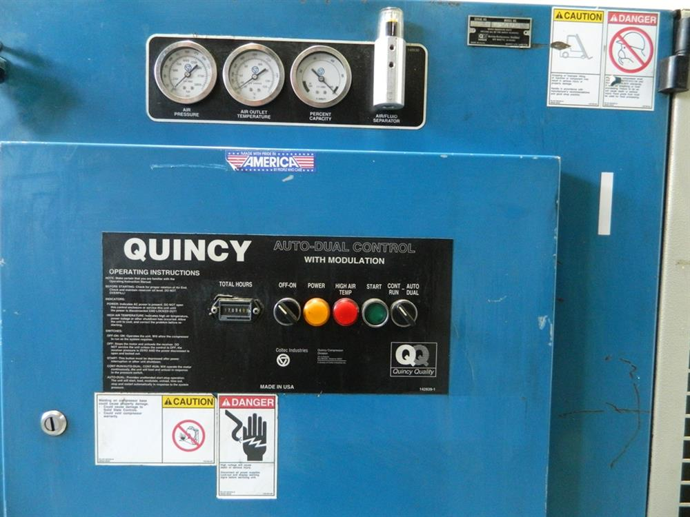 25 HP QUINCY Rotary Scr - 357728 For Sale Used N/A Quincy Duplex Air Compressor Wiring Diagram on