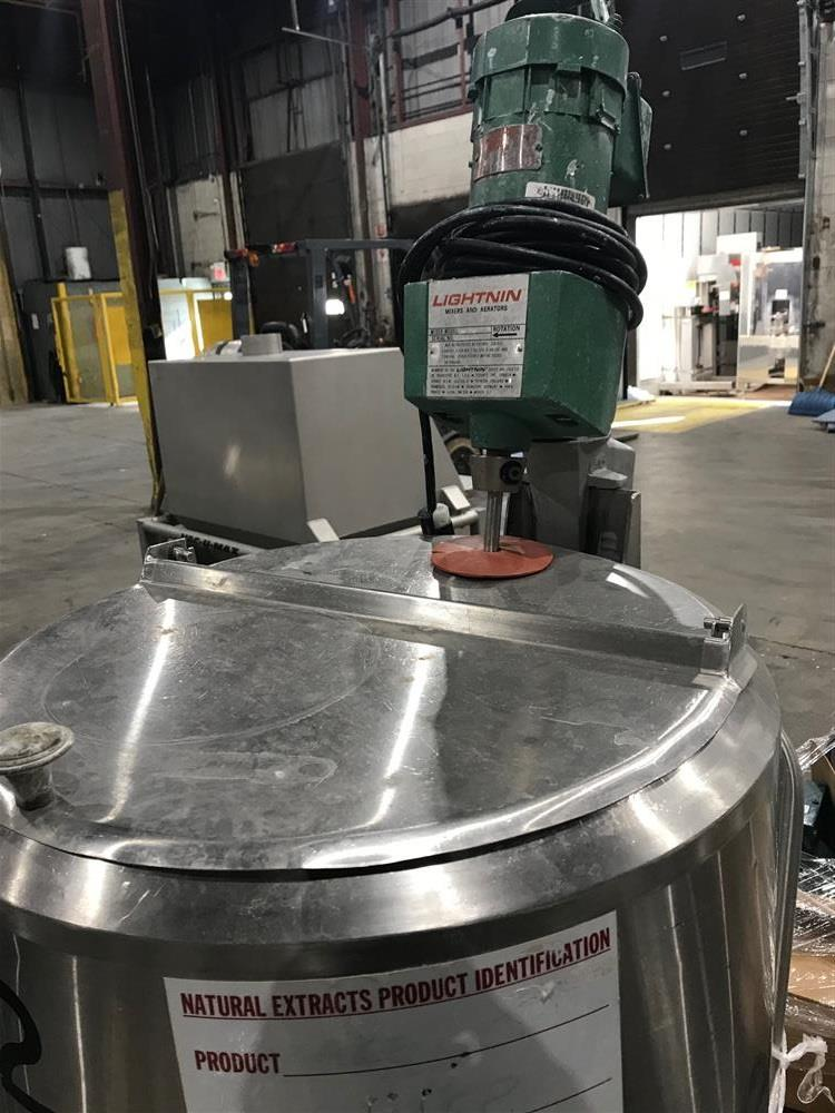 Image 50 Gallon CHERRY BURRELL Vertical Jacketed Tank 1370718