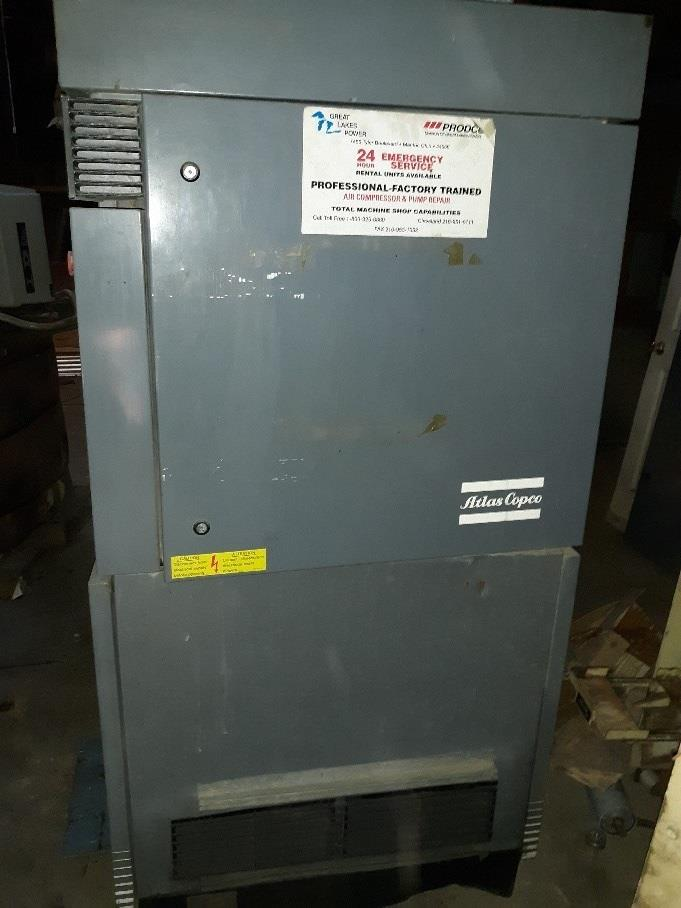 Image 100 HP ATLAS COPCO Air Compressor 1377100