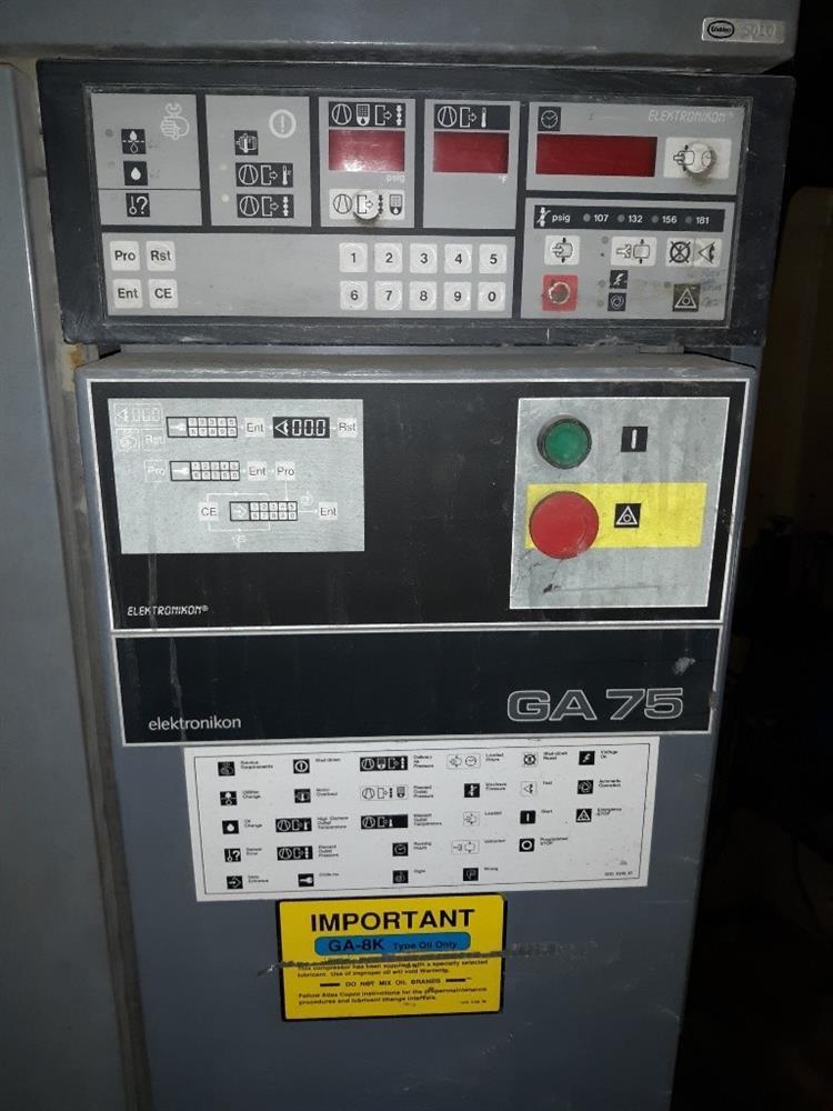 Image 100 HP ATLAS COPCO Air Compressor 1377102